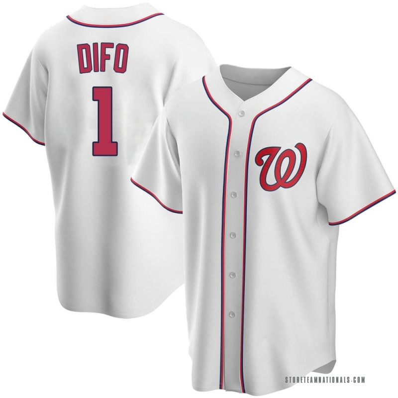 Youth Wilmer Difo Washington Nationals Replica White Home Jersey