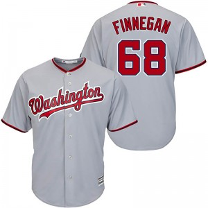 Youth Majestic Kyle Finnegan Washington Nationals Replica Gray Cool Base Road Jersey
