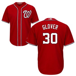 Youth Majestic Koda Glover Washington Nationals Replica Red Cool Base Jersey