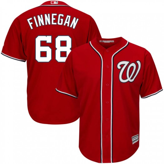 Youth Majestic Kyle Finnegan Washington Nationals Replica Scarlet Cool Base Alternate Jersey