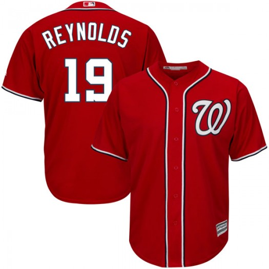 Youth Majestic Matt Reynolds Washington Nationals Player Authentic Scarlet Cool Base Alternate Jersey