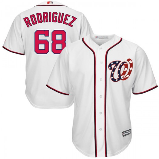 Youth Majestic Jefry Rodriguez Washington Nationals Player Authentic White Cool Base 2017 Home Jersey