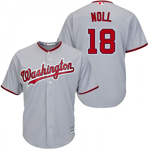Men's Majestic Jake Noll Washington Nationals Authentic Gray Cool Base Road Jersey