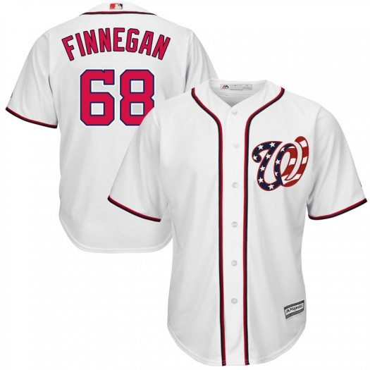 Men's Majestic Kyle Finnegan Washington Nationals Replica White Cool Base 2017 Home Jersey
