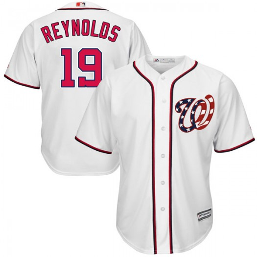 Men's Majestic Matt Reynolds Washington Nationals Player Replica White Cool Base 2017 Home Jersey