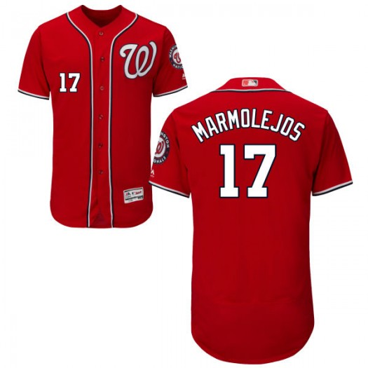 Youth Majestic Jose Marmolejos Washington Nationals Player Replica Scarlet Alternate Flex Base Collection Jersey