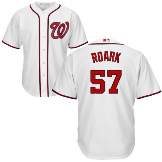Men's Majestic Tanner Roark Washington Nationals Player Authentic White Cool Base Jersey